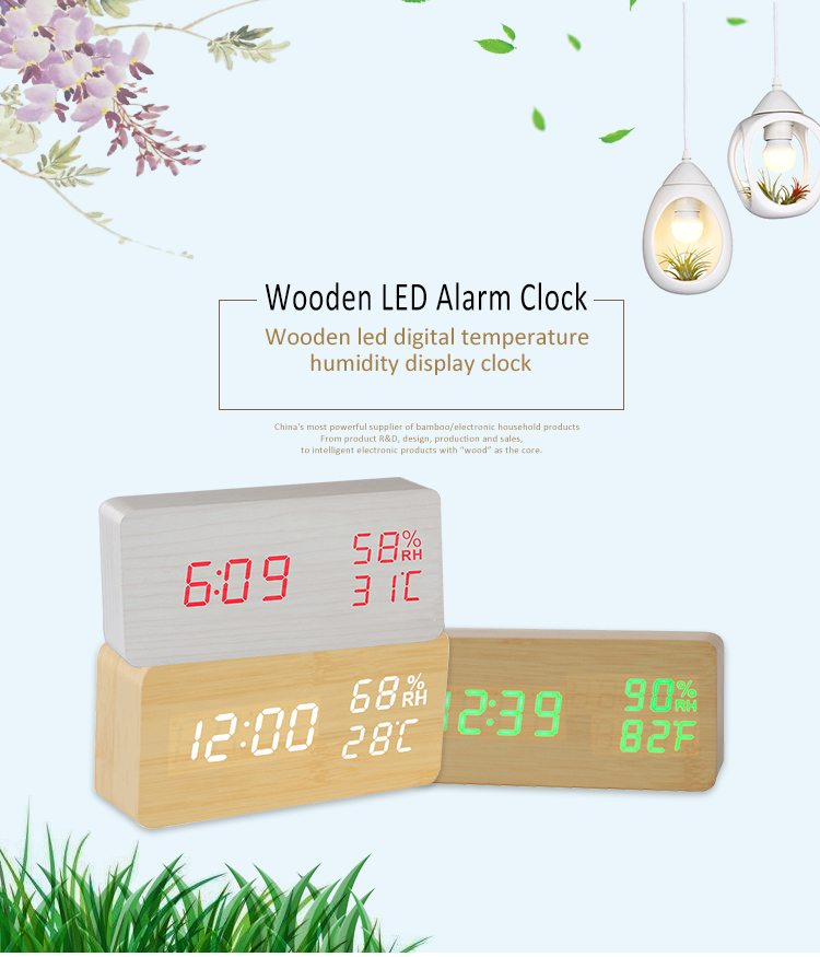 clock with temperature and humidity