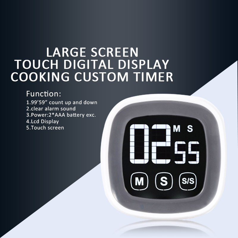 touch screen digital cooking timer