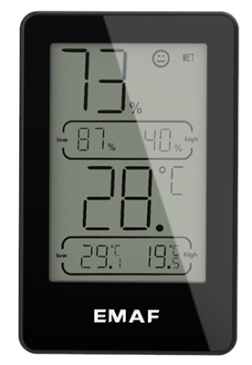 electronic temperature and humidity meter