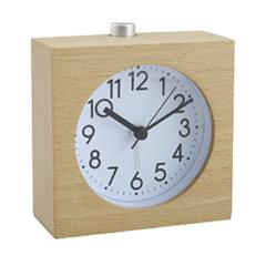 Japanese style square shape wooden silent quartz sweep movement desk clock