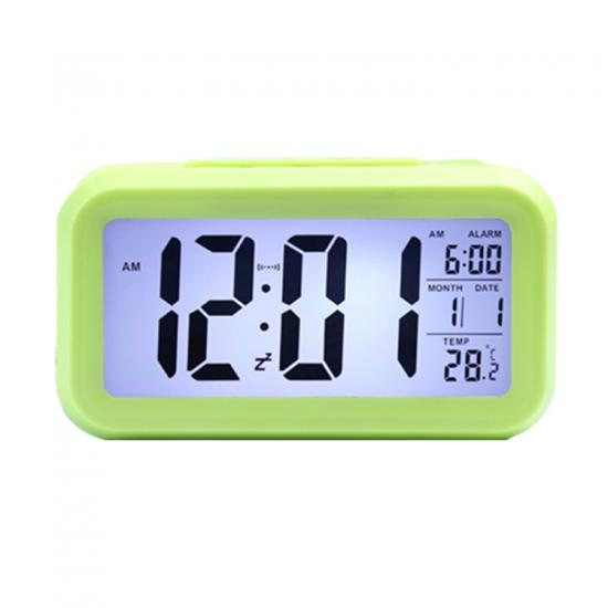 digital LCD travel slient smart clock backlight