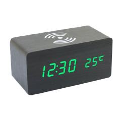 phone wireless charger table clock with bluetooth speaker