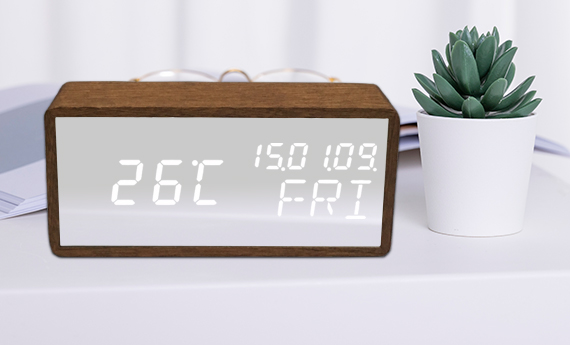 Digital led alarm clocks