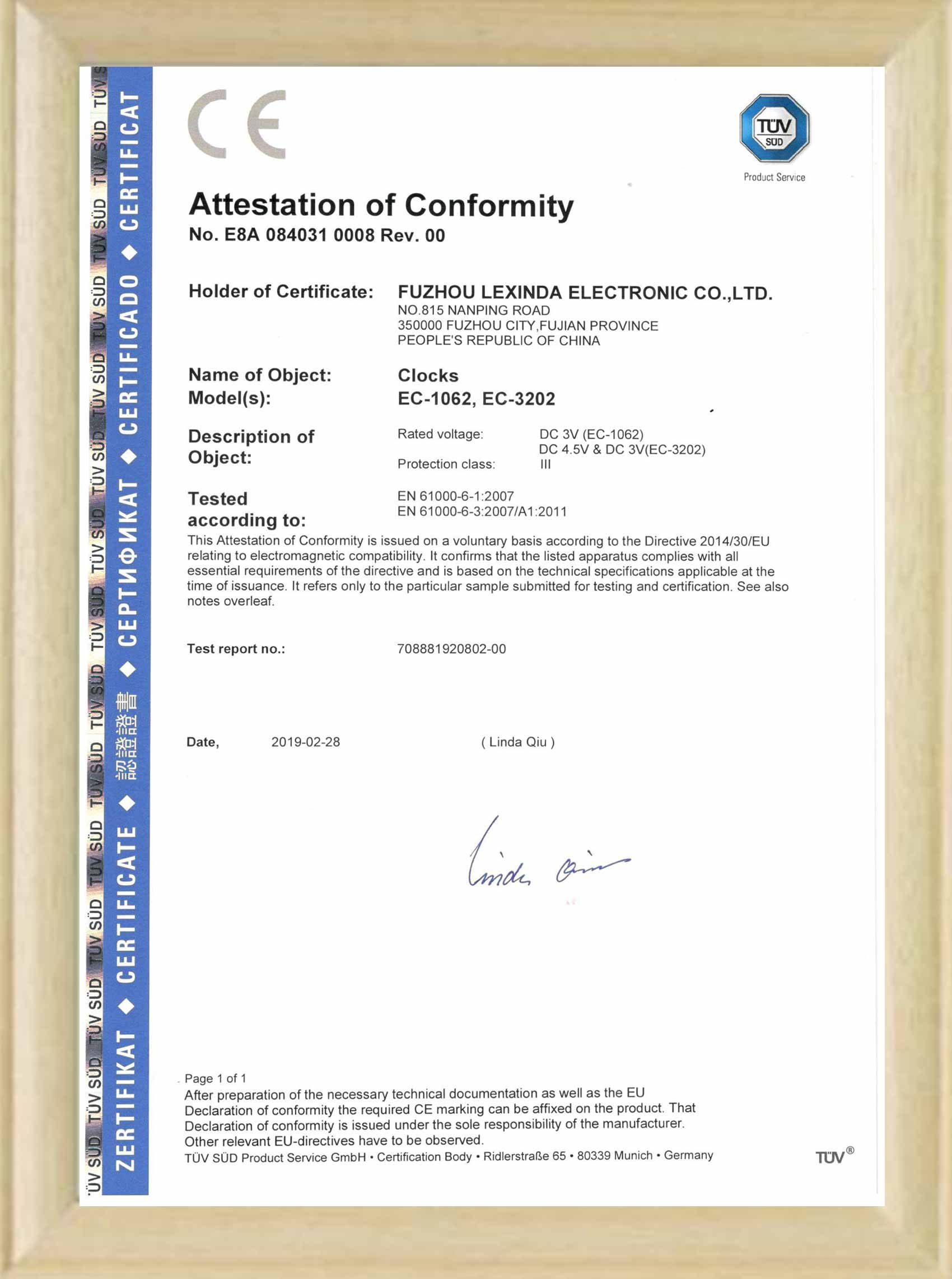 CE certificate for Pen holder